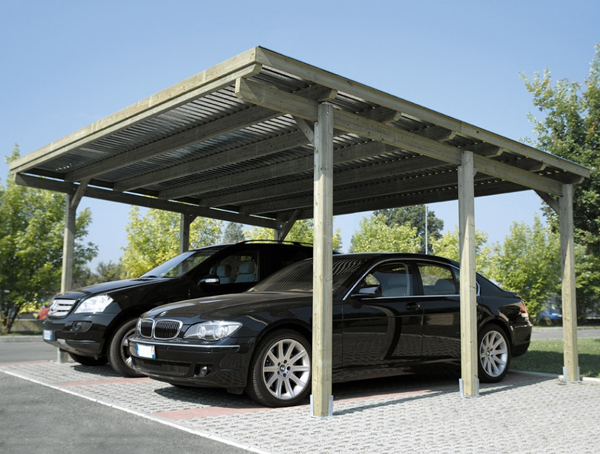 Copertura posto auto elegant img with copertura posto for Coperture in legno per auto usate